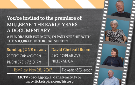 Millbrae: The Early Years - A Documentary - June 11, 2017, 6:30pm, Chetcuti Room